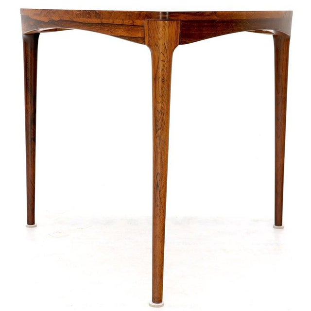 Mid-Century Modern Haug Snekkeri Triangular Rosewood Side Coffee Table For Sale - Image 3 of 13