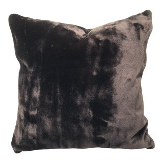 "Dark Chocolate Brown Faux Fur Feather Down 24"" Pillow For Sale"