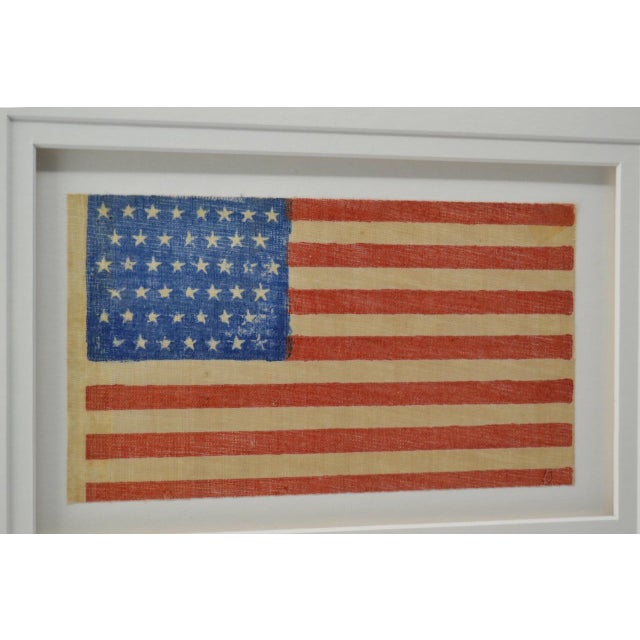 Traditional Antique Framed 45 Star American Flag, 1896 For Sale - Image 3 of 4