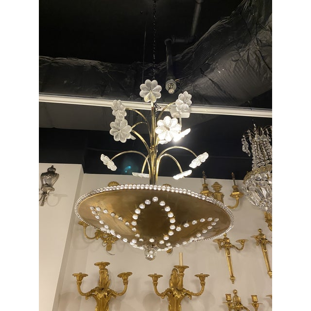 1930s French Bagues Light Fixture For Sale - Image 10 of 10