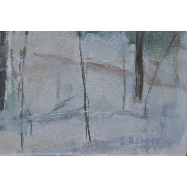 """Stephen Remick Stephen Remick """"Winter Woods"""" Painting For Sale - Image 4 of 8"""