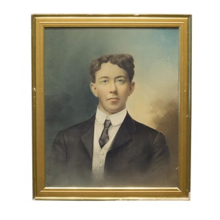 Early 20th C. Tinted Portrait Photograph C.1910 For Sale