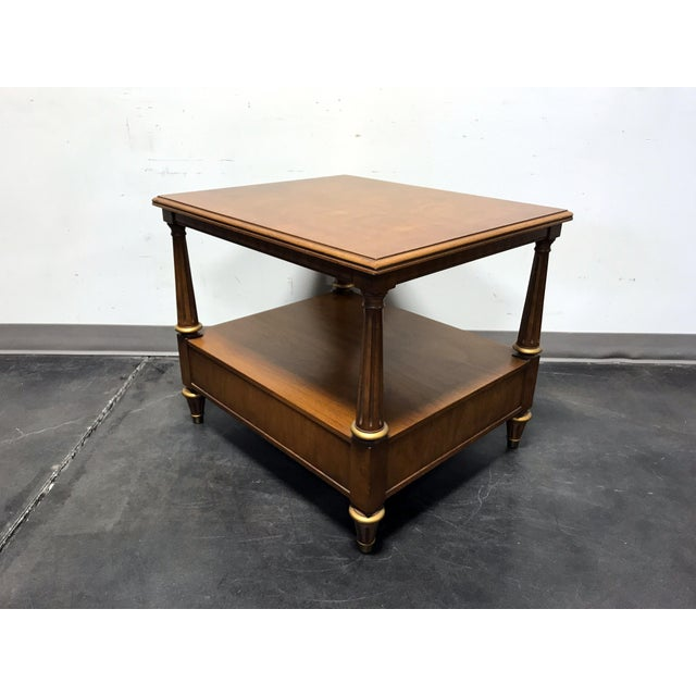 Wood Henredon Mid Century Era Neoclassical Style Side End Table For Sale - Image 7 of 10