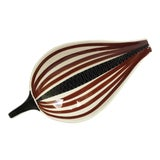 Image of Vintage Italian Mid-Century Modern Striped Ceramic Catchall Dish For Sale