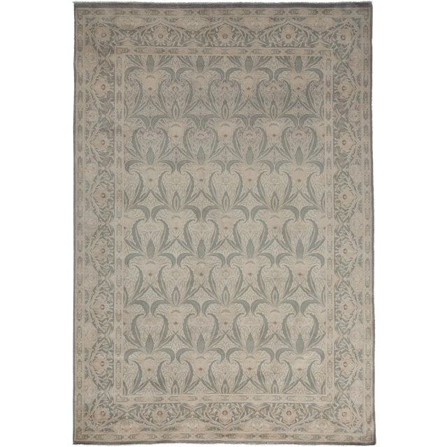 """Oushak Hand Knotted Area Rug - 6'0"""" X 8'10"""" For Sale"""
