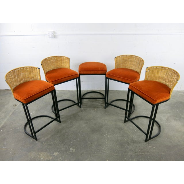 Milo Baughman for Shaver-Howard Cantilever Bar Stool - Set of 5 - Image 2 of 11
