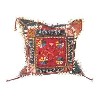 Antique Banjara Tribal Gypsy Textile Pillow For Sale