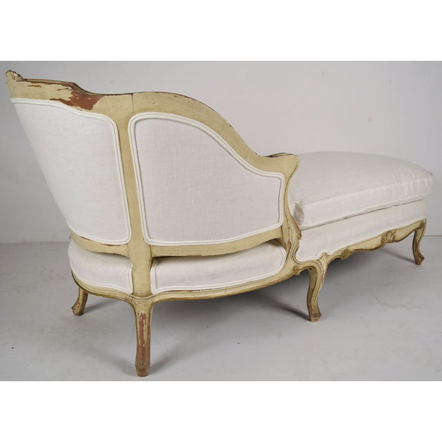 19th-C. French Louis XV Chaise Lounge - Image 7 of 8