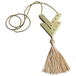 Valentino Vintage Perfume Pendant Pink Tassel Necklace For Sale