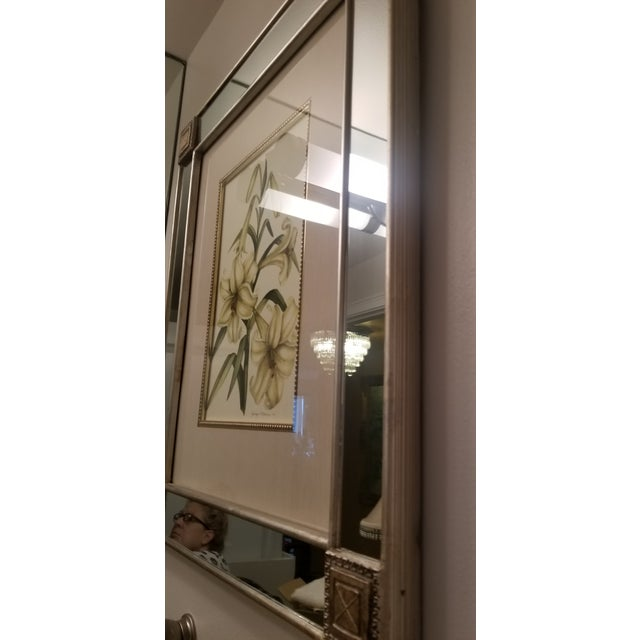 Mirror With Framed Botanical Print For Sale In Miami - Image 6 of 11