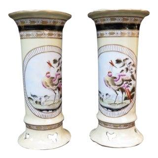 Chelsea House Porcelain Decorative Vases - a Pair For Sale