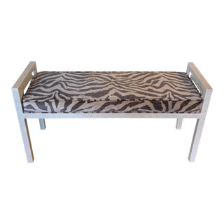 Animal Pattern Velvet Bench For Sale