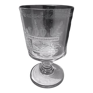 18th Century Mammoth Engraved Marriage Goblet