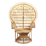 Image of Raw Wicker Peacock Chair For Sale