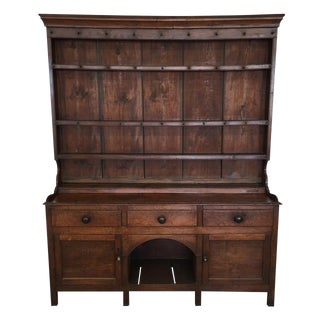 18th Century English Traditional Oak Welsh Dresser For Sale