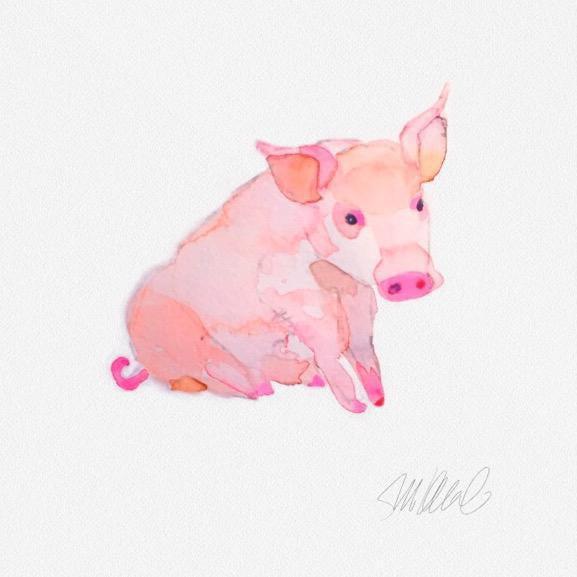 Piggy Print - Image 1 of 2