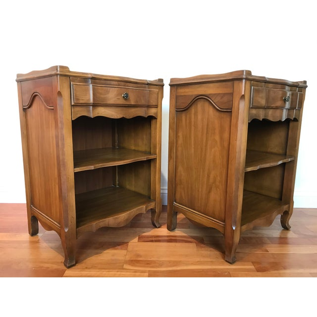 Beautiful pair John Widdicomb makers of fine furniture cherry nightstands or end tables in overall great shape. Finish is...