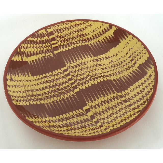 Marbled Redware Pottery Catchall Dish - Image 2 of 8