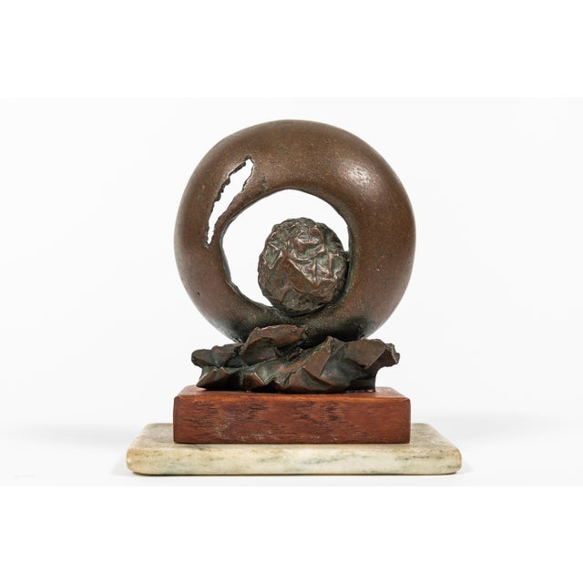 Vintage Abstract Bronze Sculpture For Sale - Image 4 of 7