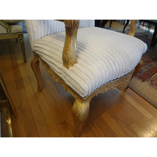 18th Century French Régence Giltwood Chair For Sale - Image 12 of 13