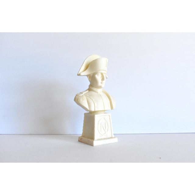 Traditional Vintage Italian Resin Napoleon Bust on Pedestal For Sale - Image 3 of 12
