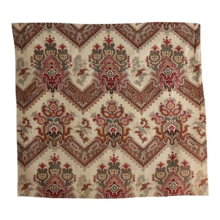French 1900 Cotton Kilim Printed Fabric For Sale