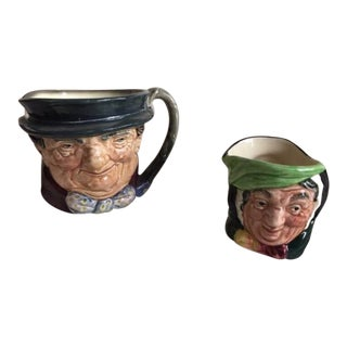 Vintage Royal Doulton Character Toby Mugs - Set of 2 For Sale
