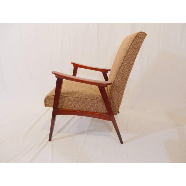 Fabric Pair of Vintage Armchairs, French, 1950s For Sale - Image 7 of 8