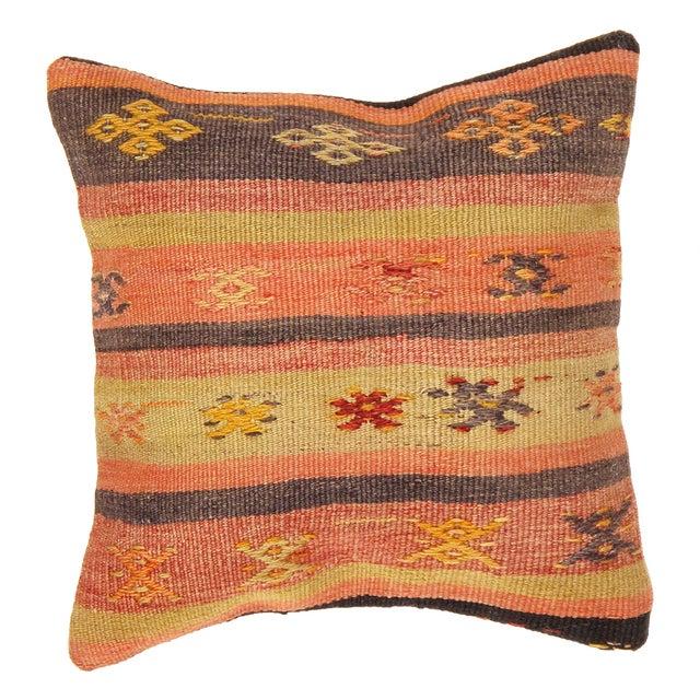 Boho Pasargad Decorative Vintage Kilim Pillow - Image 1 of 2
