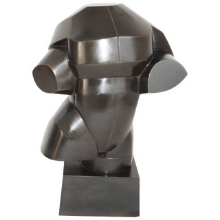 Bronze Male Torso by Howard Newman Tabletop Sculpture For Sale