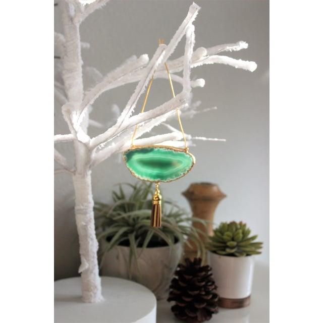 Modern Boho Agate Holiday Ornaments - Set of 6 - Image 9 of 10