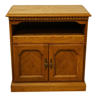 Hooker Furniture Oak Country French Office Storage Console Cabinet For Sale