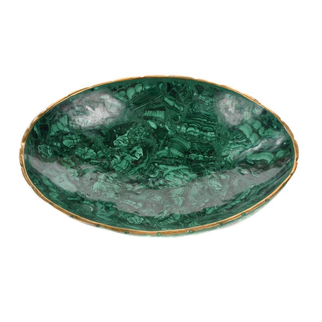 Mid 19th Century Natural Malachite & Bronze Nut Bowls - Set of 13 For Sale - Image 5 of 9
