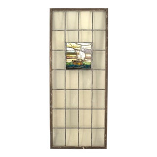English Arts & Crafts Stained Glass Window For Sale