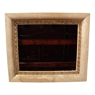 Antique White & Gold Color Gilded Ornate Wooden Picture Frame For Sale