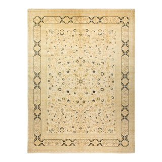"""Mogul, One-Of-A-Kind Hand-Knotted Area Rug - Beige, 10' 0"""" X 13' 9"""" For Sale"""
