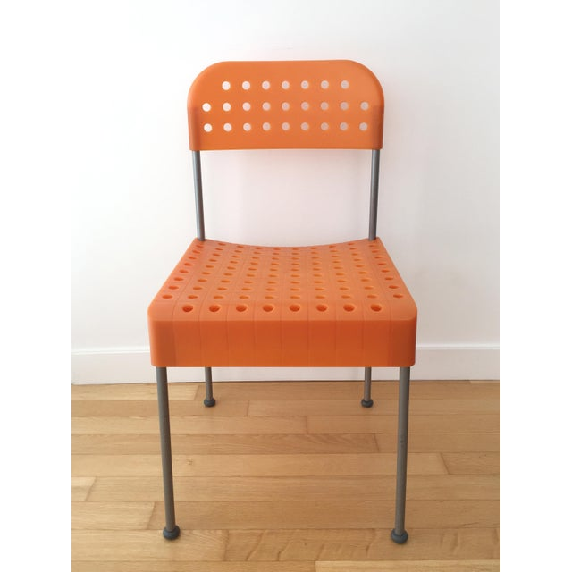 Sold as a pair. The Box chair, first produced in 1971, is a nifty collapsible chair designed to be flat-packed (see...