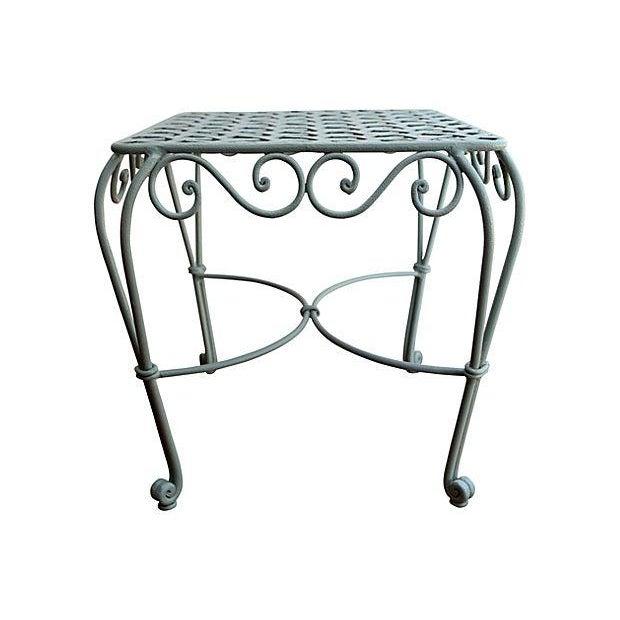 Iron Garden Table - Image 2 of 3