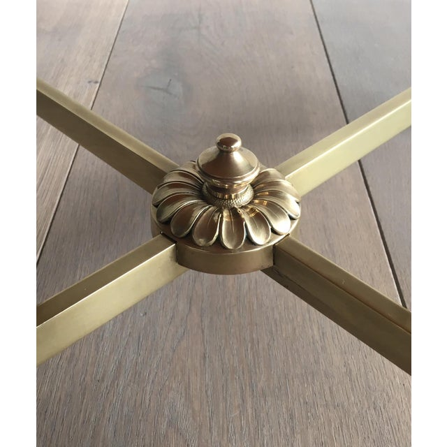 Neoclassical Brass Coffee Table by Maison Jansen - Image 5 of 11