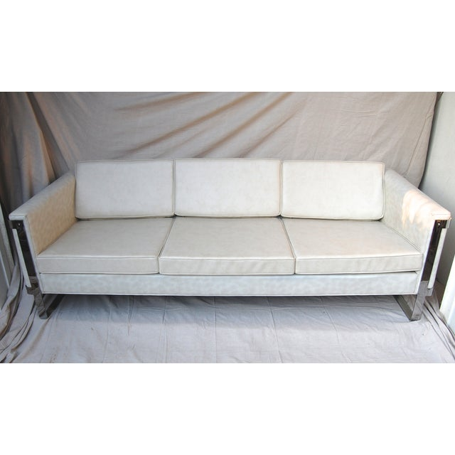 Milo Baughman Chrome Sofa - Image 2 of 6