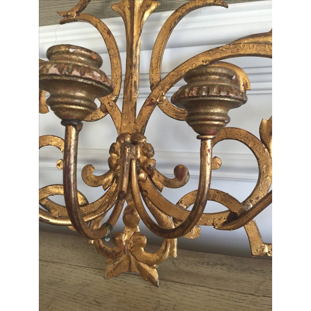 Gold Wall Mount Candelabra - Image 5 of 7