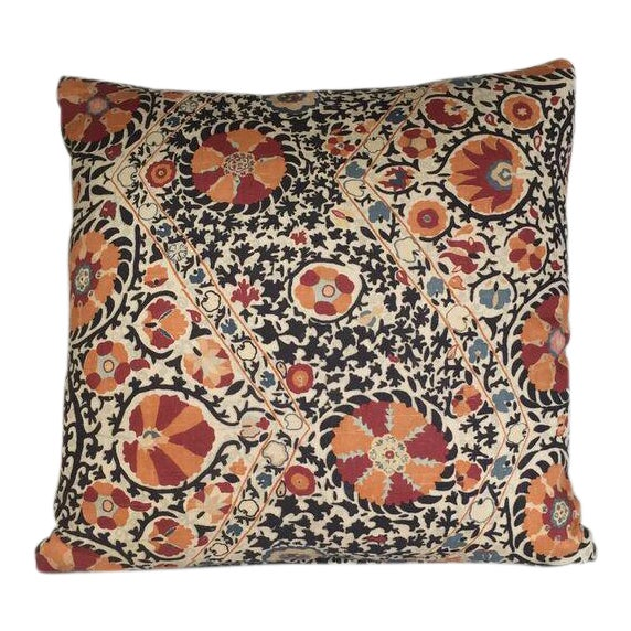 Kim Salmela Suzani Print Pillow For Sale