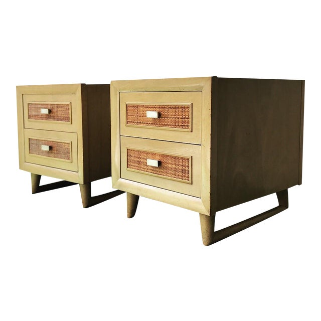 Grand Rapids Mid-Century 2 Drawer Nightstands - A Pair - Image 1 of 7