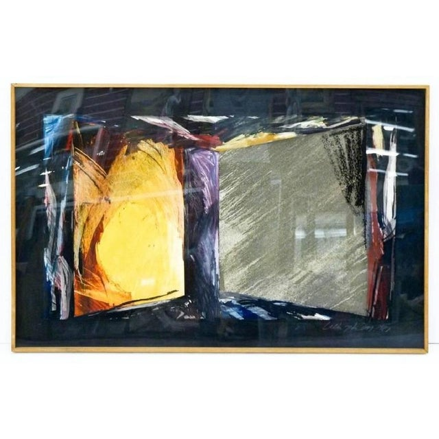 Abstract Untitled Abstract Mixed Media on Paper by Laddie John Dill For Sale - Image 3 of 3