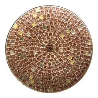 Mid Century Mosaic Tile Plate For Sale