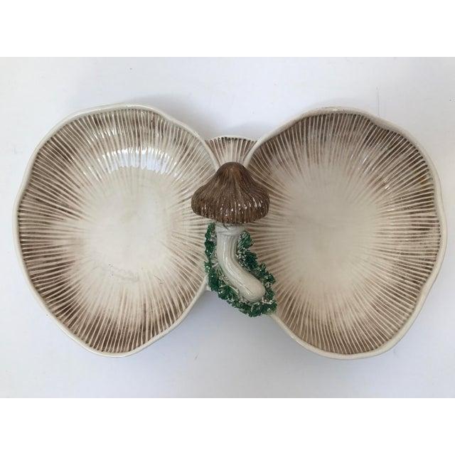 Italian Handcrafted Pottery Mushroom Serving Tray - Image 2 of 5