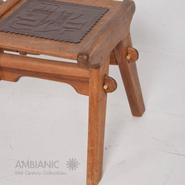 Wood Mid-Century Modern Angel Pazmino Telephone Table Stool For Sale - Image 7 of 7