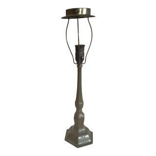 1930s Danish Just Andersen Art Deco Table Lamp in Disco Metal For Sale