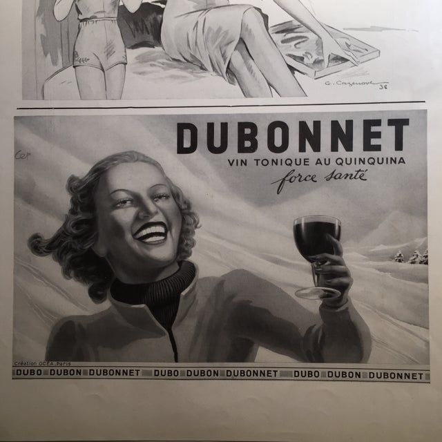 1938 French Dubonnet Ad - Image 3 of 8