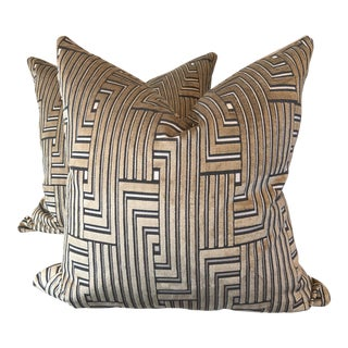 "Groundwork's ""Louvered Maze"" 22"" Pillows - A Pair"